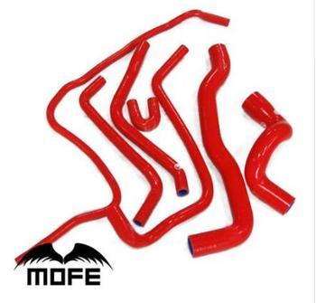 MOFE 100% Rot Silikon Original-Logo Silikon Kühlmittel Kühler Schlauch Kit Für Saab 9-3 2,0 t 1998 ~ 2002
