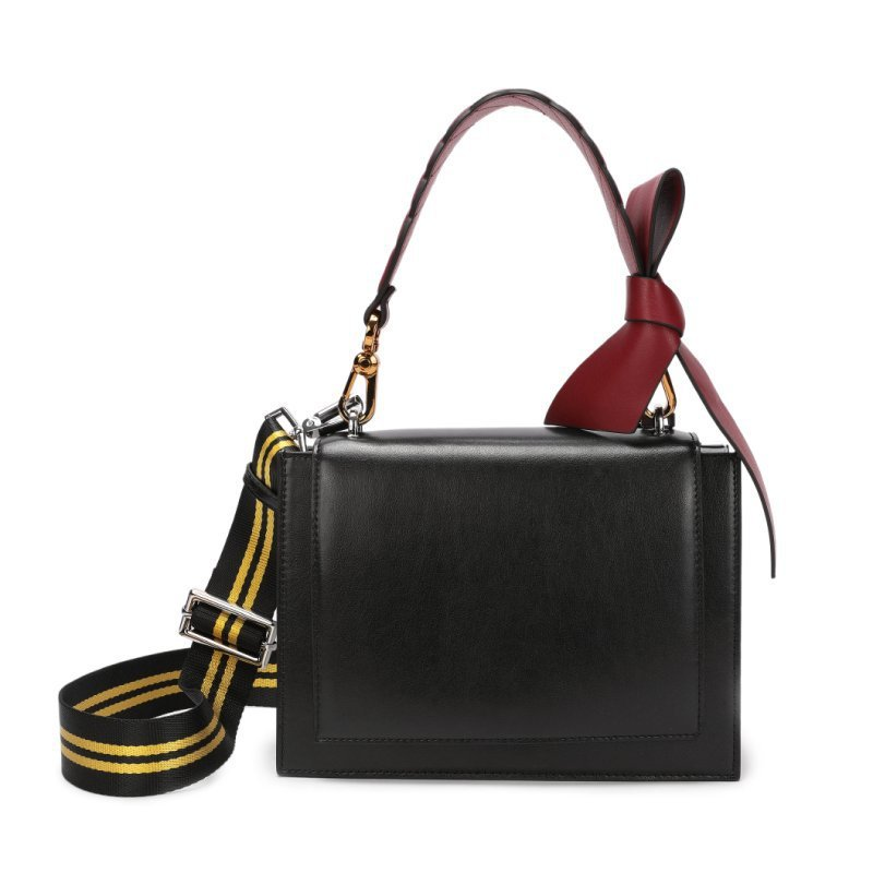 real leather handbag  cow leather square bag  pure color black  lady bag with colorful woven beltreal leather handbag  cow leather square bag  pure color black  lady bag with colorful woven belt