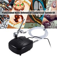 Professional Multi Basic Airbrush Air Compressor System Kit Set Gravity Feed Dual Action Trigger Spray Pen for Painting Spraying