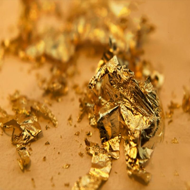 Altın Yenilebilir Glitter Kek Dekorasyon 24 K için Hakiki Gıda - Tatiller ve Partiler Için - Fotoğraf 6