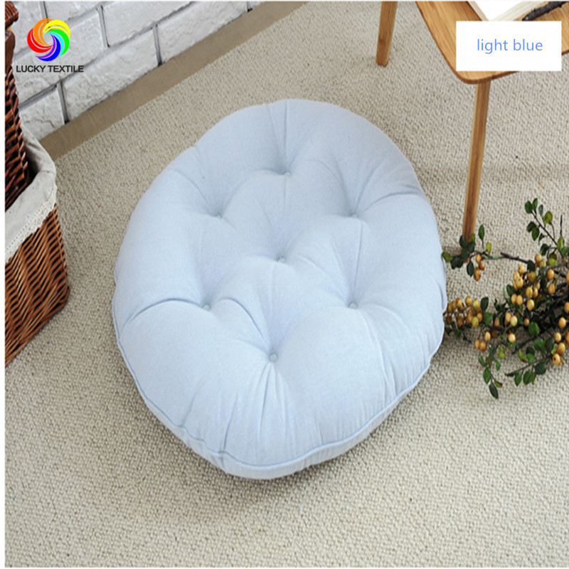 Seat Cushion Japan Style 55 55cm Cotton Gray Round Cushions For Futon Yoga Floor Tatami Chair Sofa Home Decor In From Garden