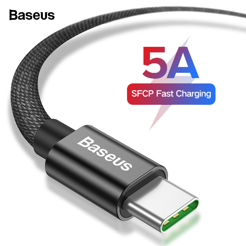 Baseus 5A USB Type C Cable For Huawei Mate 30 P30 P20 Pro Supercharge Xiaomi mi 9 Samsung S10 S9 USBC Type c Cable USB C Charger|Mobile Phone Cables| |  - AliExpress