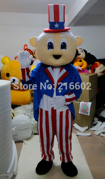 old man mascot costume for adult American old man magician mascot costume free shipping