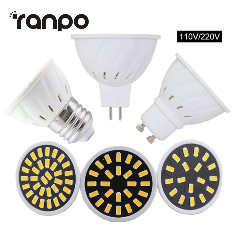 10Pcs/Lot Factory Price LED Spot Lights E27 MR16 GU10 5733 SMD 4W 6W 8W Led Bulb Lampada Corn Lights  for Home Led Lighting 220v