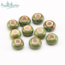 Specials Ceramic DIY Beads For Making Necklace Accessories Of Multi-color Flower Glaze 10pcs Loose Wholesale T401