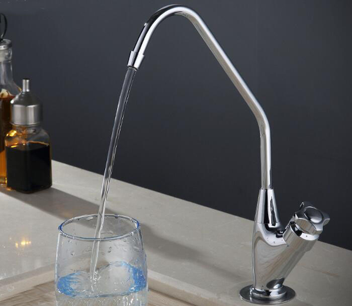 Brass Lead free Cold Water Kitchen Faucet Drinking Water Spout Tap Filter purified Water Single Handle