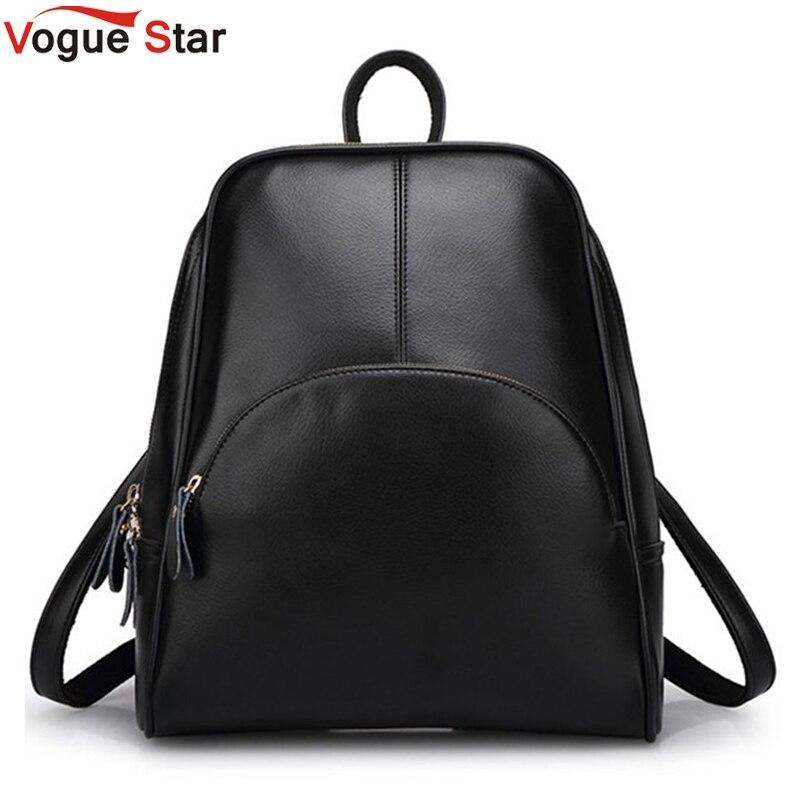 ¡Vogue estrella! 2019 nueva mochila de moda para mujer Mochila De cuero bolso escolar para mujer estilo Casual YA80-165