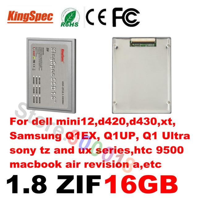 """L kingspec 1.8 """"pulgadas ZIF ATA7 2 CE SSD 16 GB Unidad de Estado Sólido HD disco duro ssd para sony discos duros internos para dell samsung"""