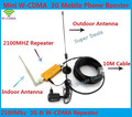 Signal Amplifier Mini W-CDMA 2100Mhz 3G Repeater Mobile Phone 3G Signal Booster WCDMA Signal Repeater Amplifier +Cable + Antenna