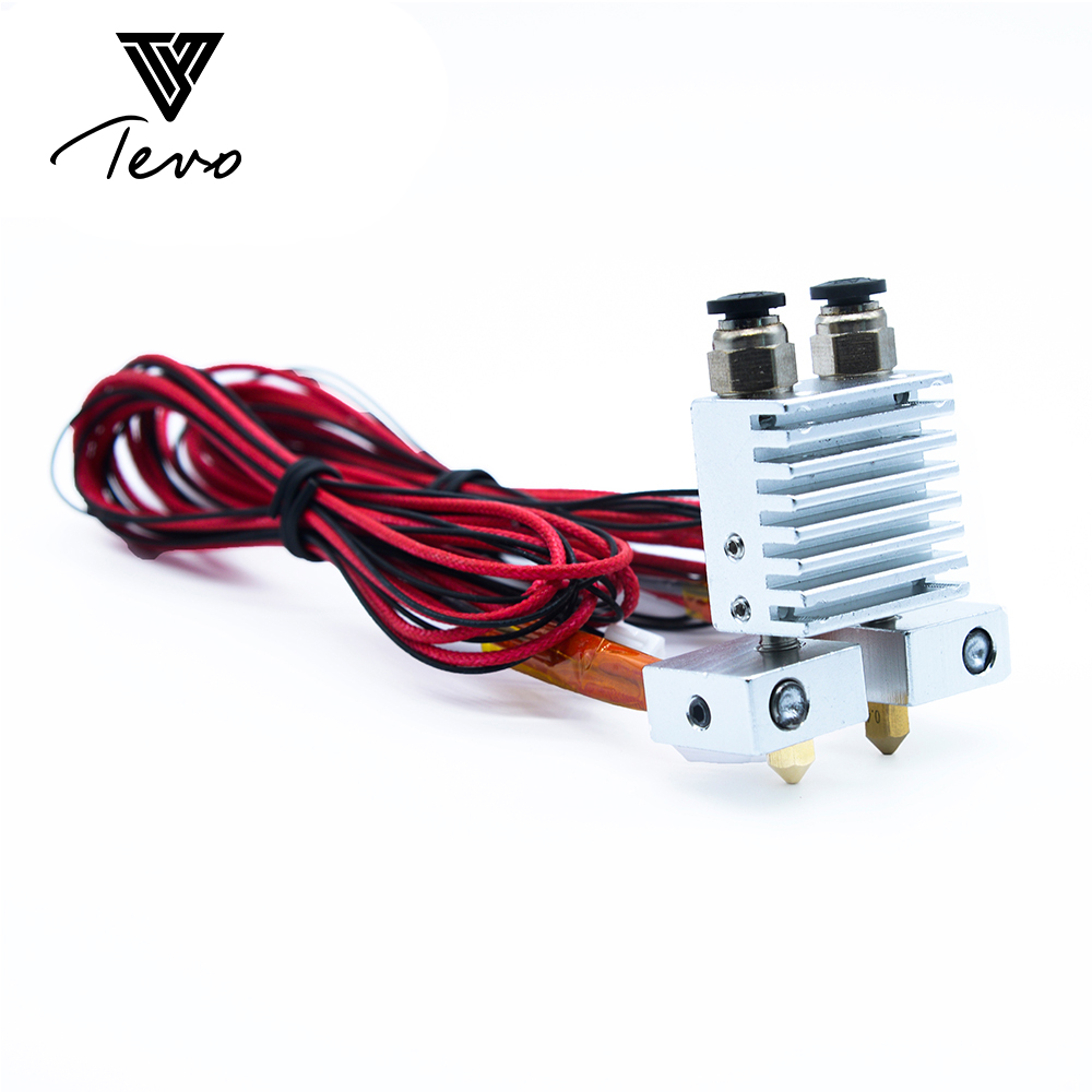 3D Printer part TEVO Tarantula Dual Extruder Upgrade Fully Kits Dual Extruder& 3010 12V cooling fan with two Nema 17 step motor horizon elephant reprap mkbot replicator 3d printer metal dual direct extruder kit 1 75 mm fila with nema 17 stepper motor dual