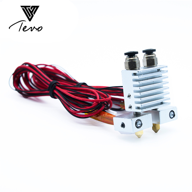 3D Printer part TEVO Tarantula Dual Extruder Upgrade Fully Kits Dual Extruder& 3010 12V cooling fan  with two Nema 17 step motor