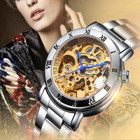 Relogio Feminino Ladies Automatic Skeleton Watches Women Gold Tone Mechanical Watches Famous Top Brand IK Colouring