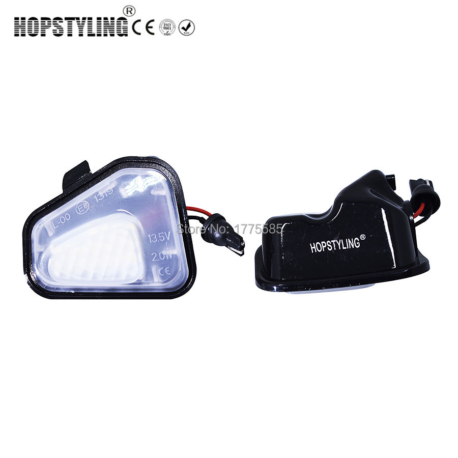 Hopstyling Car-styling 2Pcs LED Side Mirror Puddle Lights Lamp No Error for Vw Volkswagen EOS Passat B7 CC Scirocco Jetta wisengear led turn signal corner light lamp door rearview mirror cover cap for volkswagen vw beetle cc passat b7 jetta mk6 eos
