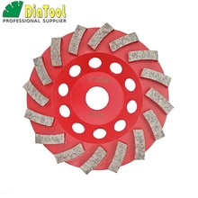 цена на 125mm Diamond Grinding Cup wheel for Concrete, 5 inch Grinding disc, Segmented turbo type