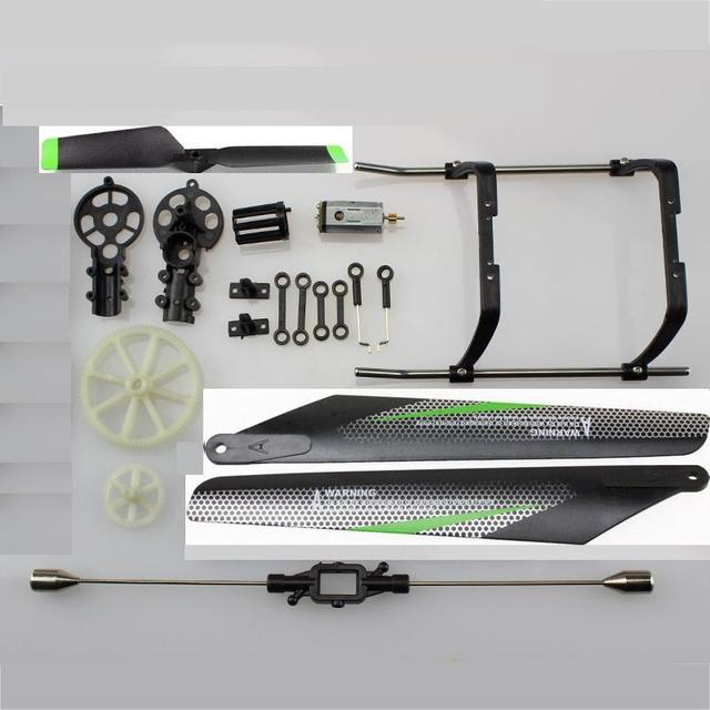 V912 Parts Kit Main Blades Landing Skid Gear Wheel Balance Bar Tail Blade Main Motor For V912 RC Helicopter