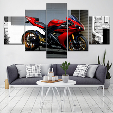 NMD R1 Core Red Black motorcycle 5 Piece HD Wallpapers Art Canvas Print modern Poster Modular art painting for Home Decor