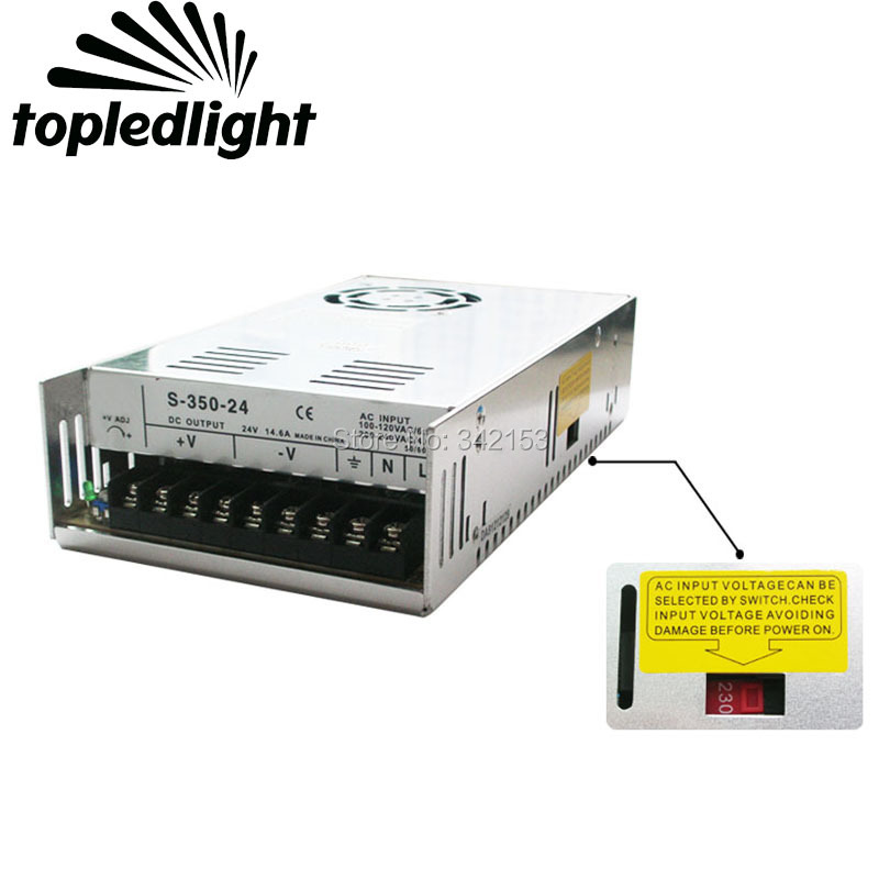 DC24V 14.6A 350W Universal Regulated Switching Power Supply Portable Lighting Accessories For CCTV Cameras Home Appliances aluminum dc 12v 29a 350w universal switching power supply adapter led driver for cctv cameras led strips home appliances