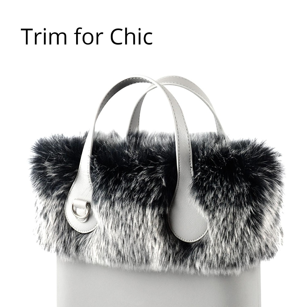 Tanqu New Women Bag Faux Fox Raccoon Fur Trims Plush Trim For O Chic BAG Thermal Plush Decoration Fit For Ochic Obag