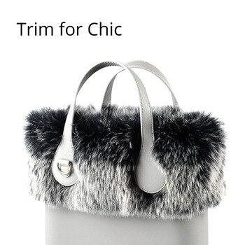 Tanqu New Women Bag Faux Fox Raccoon Fur Trims Plush Trim for O Chic BAG Thermal Decoration Fit Ochic Obag - discount item  10% OFF Bag Parts & Accessories