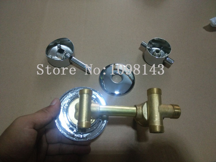 3 Ways Screw water outlet shower room faucet mixing valve, 2/3/4/5 ways water shower room mixer shower room controller chrome цена