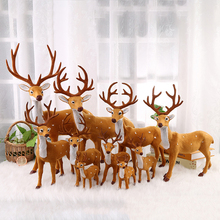 15/30cm Simulation Sika Deer Christmas Plush Reindeer Standing Xmas Elk Tree Party Ornaments Decoration Props