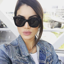 Qigge 2019 New Fashion Cat Eye Sunglasses Women Brand Designer Vintage Gradient Sun Glasses Shades  For UV400
