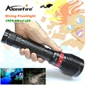 XY001 Underwater Diving Flashlight Torch XM-L2 LED Light Lamp Waterproof 2500Lm L2 LED Light by 18650 Battery For Driving torch