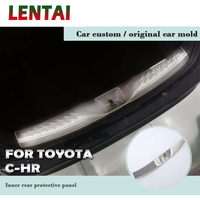 LENTAI Car Rear Back Bumper Tailgate Strip Threshold Trim Plate Trunk Pedal Auto Accessories For Toyota CHR C HR 2018 2017 2016