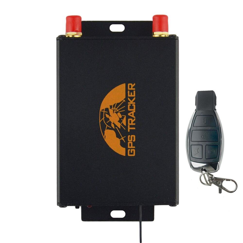 Traqueur de véhicule GPS GPS103B + TK103B + charge de données d'enregistrement de données SOS SMS/GPRS/capteur de choc de transfert de données réseau Internet et sirène