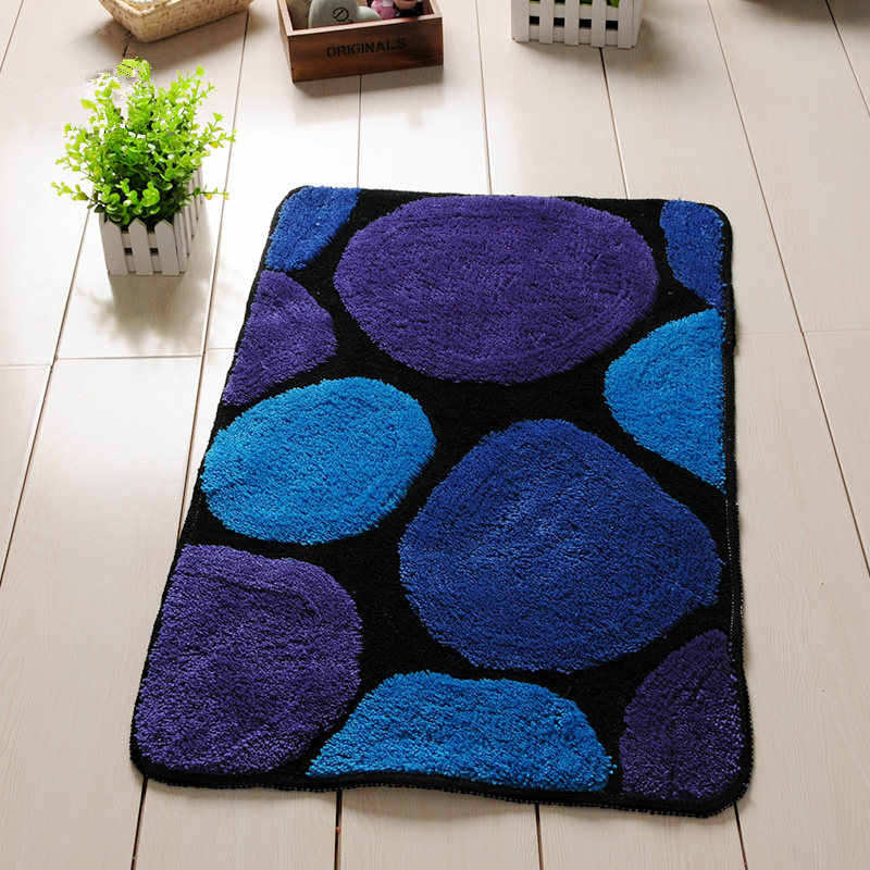 Круглые дизайнерские коврики для ванной, нескользящий Набор ковриков для ванной комнаты и коврика, дверной коврик в туалете, коврики для ванной комнаты и туалета