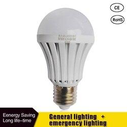 Lâmpada de iluminação recarregável da bateria 85-265v para a iluminação exterior bombillas lâmpada esperta conduzida e27 5w 7 w 9 w conduziu a luz de emergência