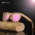 EZREAL Handmade Wood Sunglasses Men women square bamboo Sunglasses Women Mirror Sun Glasses Oculos de sol masculino