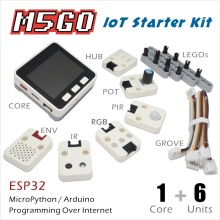 M5Stack Official Stock Offer! M5GO IoT Starter Kit ESP32 for Arduino/MicroPython Programming Development IR MIC 500mAh Battery