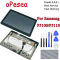 oPesea For Samsung Galaxy Tab 2 10.1 GT- P5100 P5110 P5113 LCD Display Panel Touch Screen Digitizer Assembly With Frame