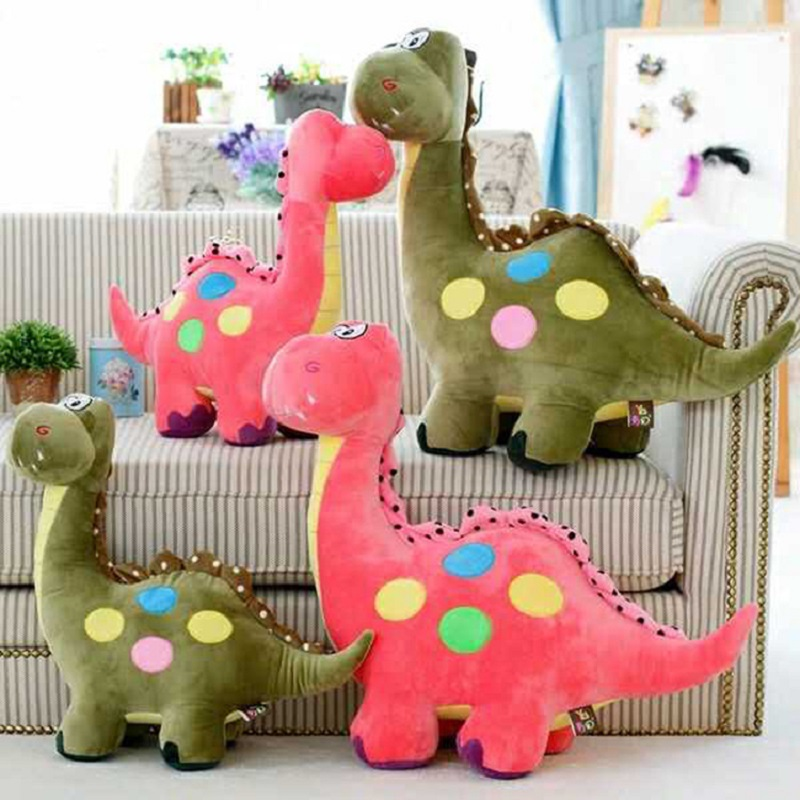 45/55cm Cute Big Size Cartoon Dinosaur Toys Children's plush doll creative Lovey Stuffed Doll Kids Toys Pink Gift For Kid stuffed animal 120 cm cute love rabbit plush toy pink or purple floral love rabbit soft doll gift w2226