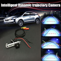 HD CCD Intelligent Dynamic trajectory Sport Camera Rear View Backup Parking For Renault Clio 4 2014~2015 / License Plate Light