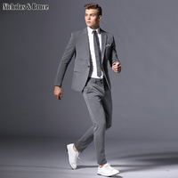 N&B Suit Male Business Formal Suit Latest Coat Pant Designs Suits 2019 Slim Fit Tuxedo Wedding Suit Man Groom Large Dresses SR4