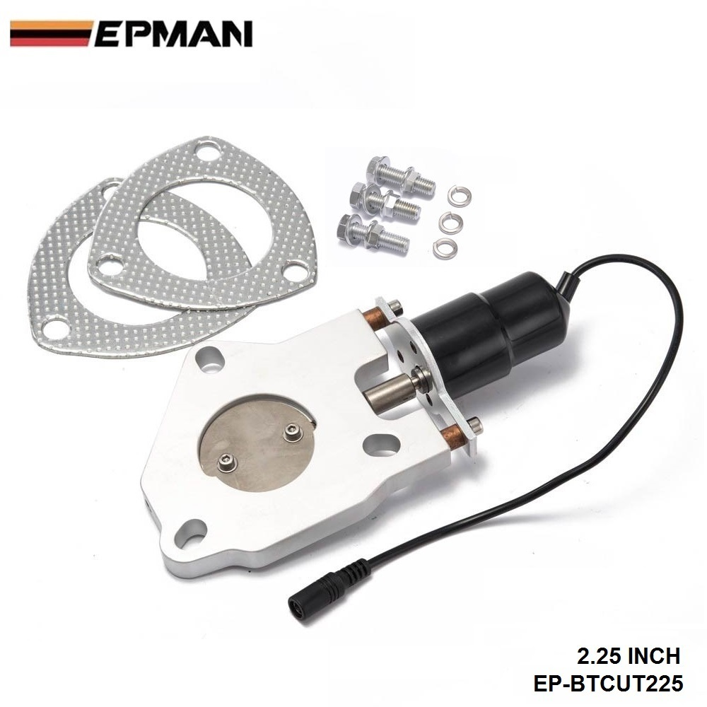 """2.25"""" Electric Exhaust Cutout Remote Control Motor Kit"""