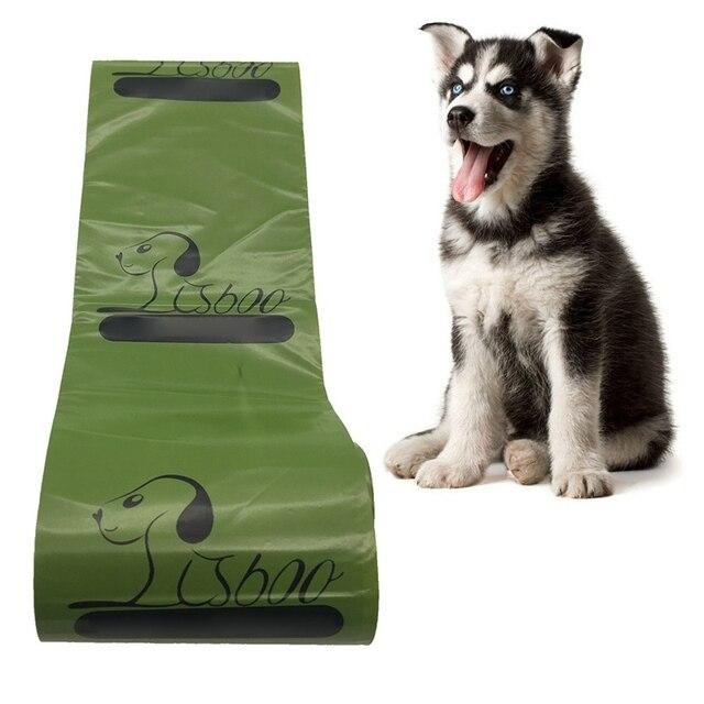 8rolls Port Dog Poop Bag Biodegradable Dog Pets Waste Garbage Bags Carrier Biodegradable Clean-up Bag Waste Pick Up Cleaning Bag