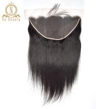 Прямой прозрачный кружевной фронтальной 13X6 уха до уха Часть бразильские волосы без повреждения кутикулы прозрачного кружева закрытие естественного черного цвета для Для женщин