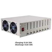 8 канальный Батарея Разделение Кабинета Утюг литиевая батарея Емкость тестер 18650 батареи 10A Цикл старения EBC X Y