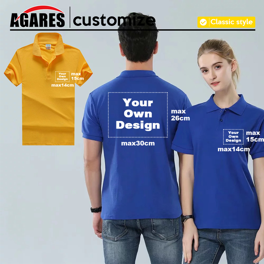 2019 Your OWN Design Brand Logo/Picture White Custom Men and women   Polo   Shirts S-4XL Plus Size   Polo   Shirt Men Clothing S-8