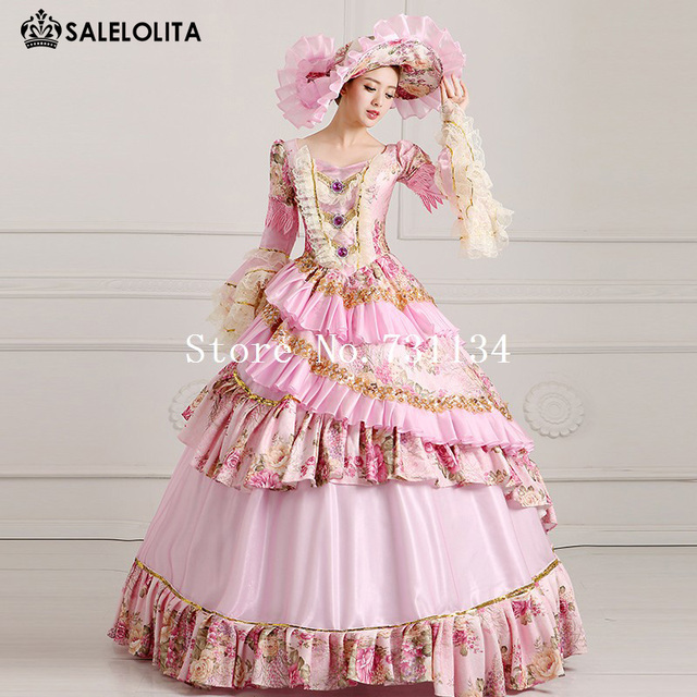 43f7794d2dd9 2019 Elegant Light Pink Dance Party Dress 18th Century Medieval Marie  Antoinette Dresses Vestido