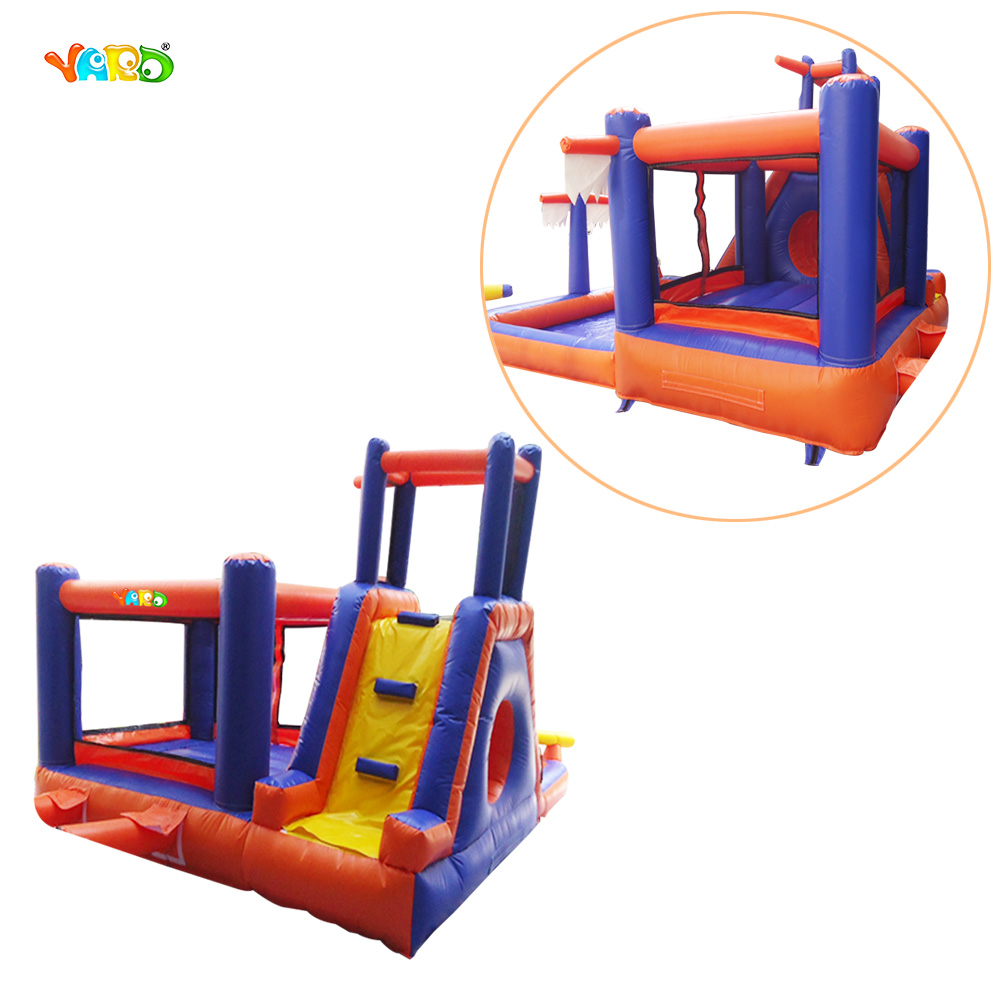 5 in 1 Fashion Inflatable Slide & Castle Combo with Water Pool for Kids inflatable pool slide funny water slide combo dual slides