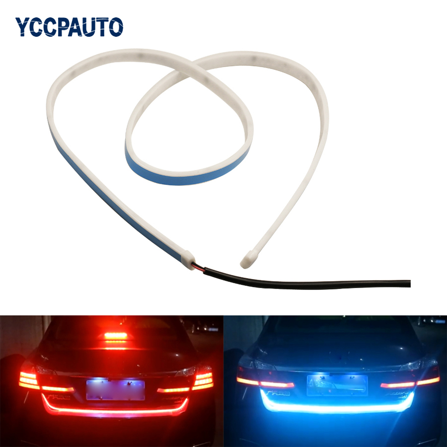 Trunk Strip Rear Lights Car LED Light Braking Light Side Turn Signals Car-styling For BMW VW DRL Daytime Running Light 47 1pcs 1 pair car led lights 12 24v drl head lights 8w turn light strip