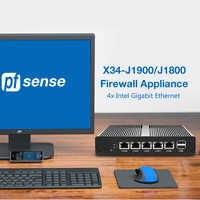 Pfsense-Mini PC X86 Sin ventilador, J1900 J1800 procesador Celeron, 4x Intel 211AT, Router de Firewall Ethernet Gigabit, OPNsense
