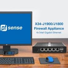 Pfsense безвентиляторный мини ПК Intel Celeron J1900 J1800 процессор 4x сетевая карта Intel Gigabit Ethernet брандмауэр прибор маршрутизатор minipc платформа