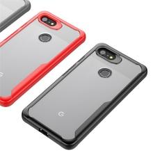 все цены на Heavy Duty Bumper for Google Pixel 2 3 3a 4 Case Transparent Shield Hybrid Drop Protection Armor Cover for Google Pixel 3 3a XL онлайн