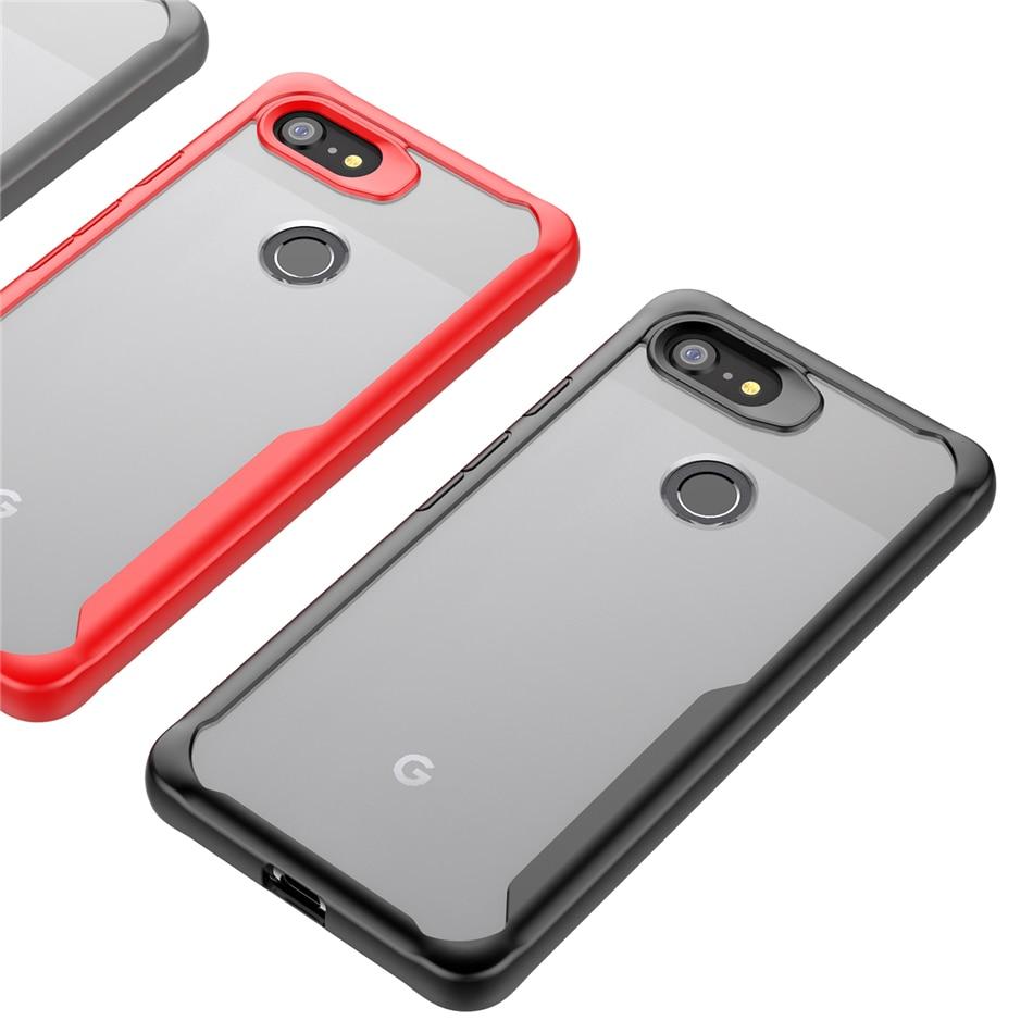 Pare-chocs robuste pour Google Pixel 2 3 3a 4 étui Transparent bouclier hybride Protection contre les chutes couvercle d'armure pour Google Pixel 3 3a XL