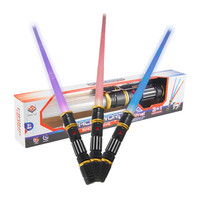 Foldable Laser Sword with Sound and Light Classic Lightsaber Toy for Kid Jedi Scalable Weapons Gift